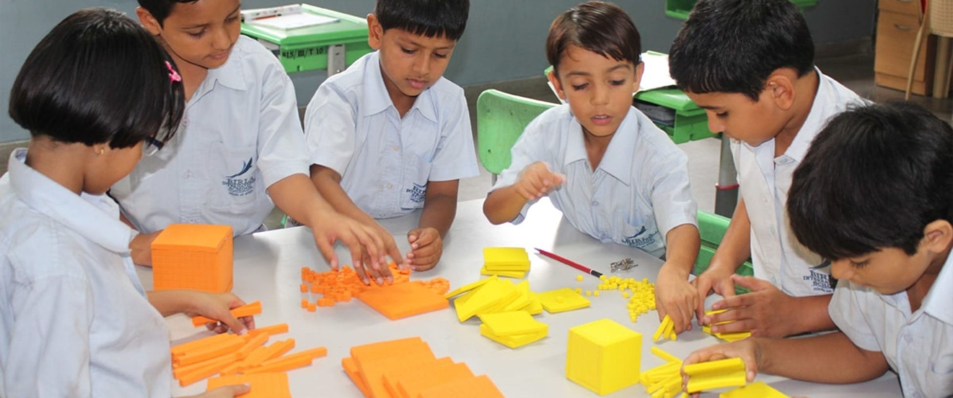 kids jumling with letters
